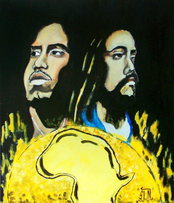 Nas, Damian Marley par SLNstreetart